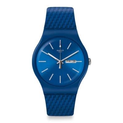 Swatch Bau 包浩斯系列手錶 BRICABLUE結構亮藍 -41mm