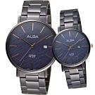 ALBA 雅柏 緣來就是幸福時尚紋理 甜蜜對錶(AS9K63X1+AH7V01X1)