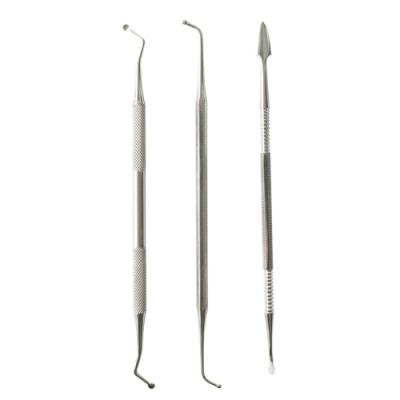 日本MINESHIMAミネシマ模具雕線針雕刻塑型刀3件組TM-5(雙頭;圓扁尖)刻線筆修整補土造型工具塗刮刀調色刀carving knife