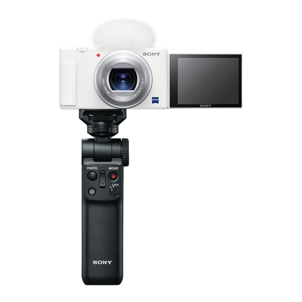 SONY 數位相機 ZV-1手持握把組合 晨曦白 (公司貨)