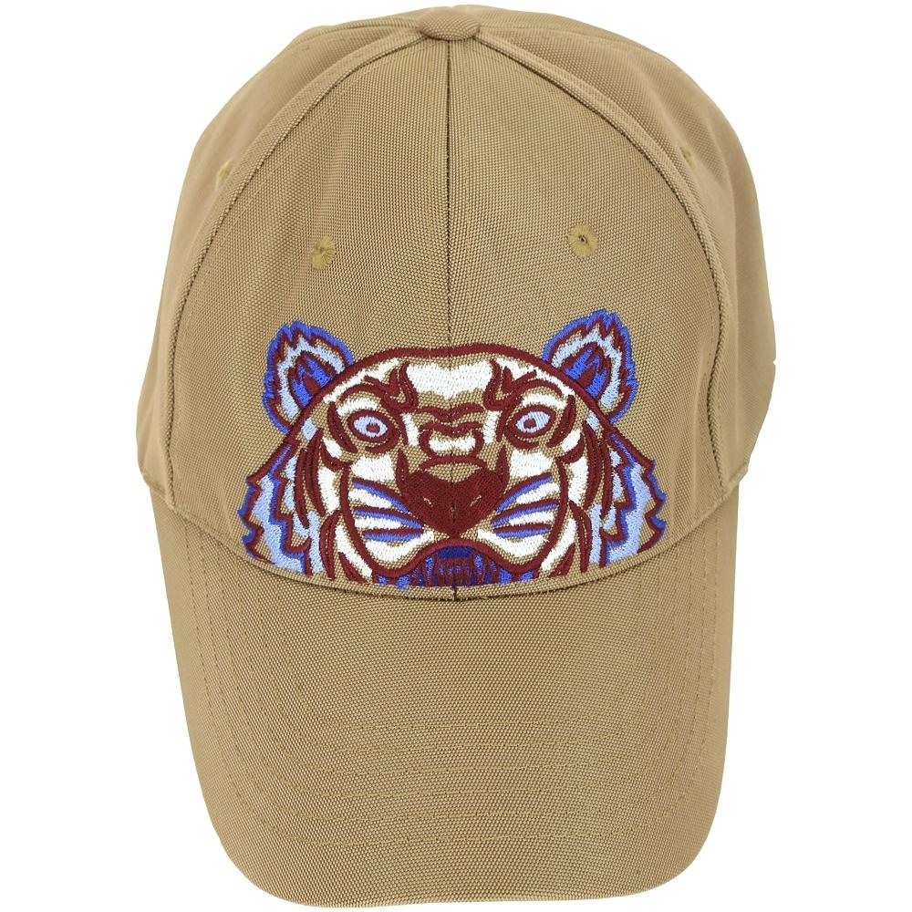 KENZO Tiger Canvas 經典虎頭刺繡圖騰棒球帽(棕色)