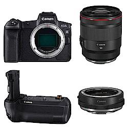 Canon EOS R + RF 50mm f1.2L +轉接控制環+BG-E22(公司貨