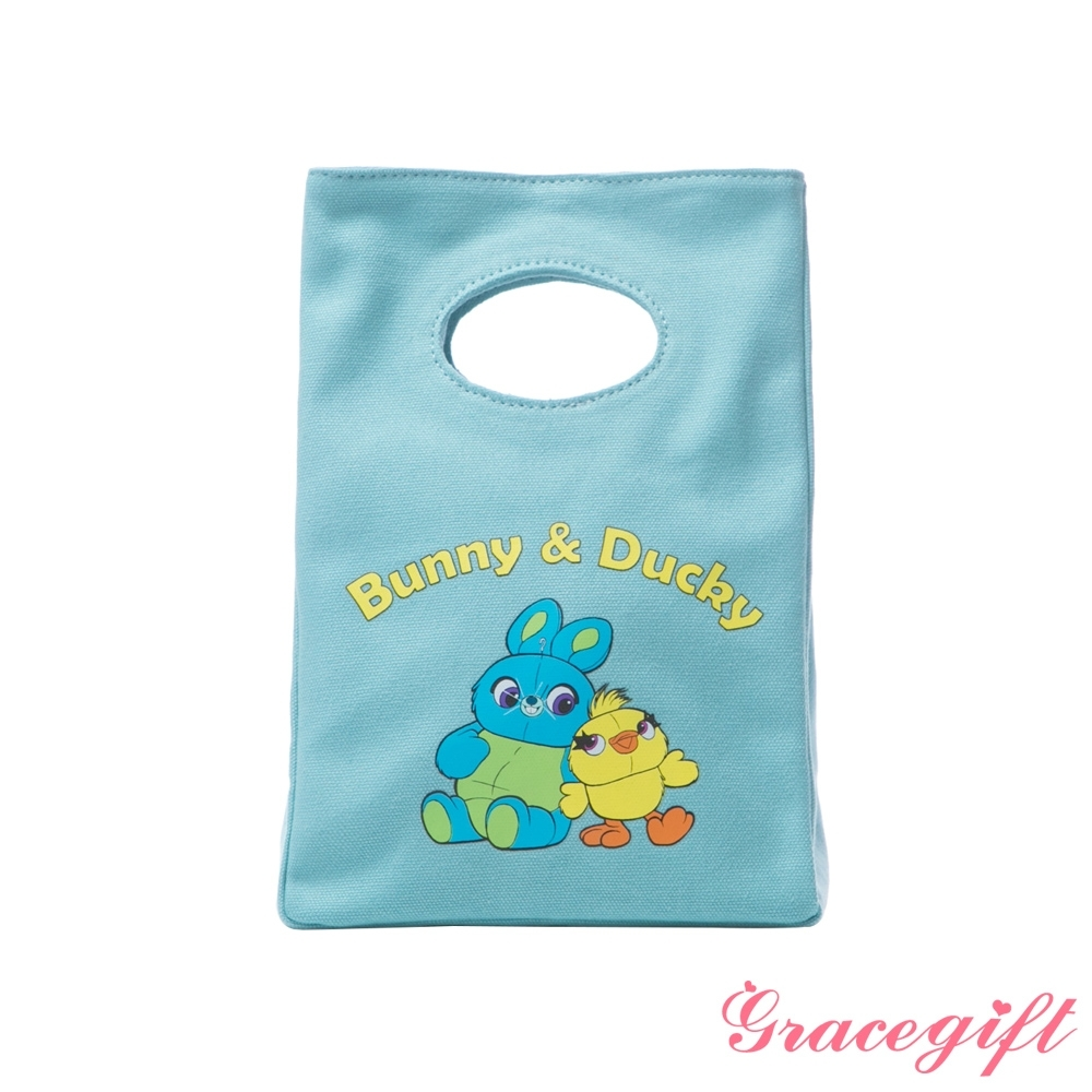 Disney collection by gracegift-玩總鴨霸兔崽子帆布便當袋 淺藍 product image 1