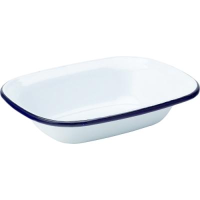 《Utopia》長方琺瑯烤盤(藍16cm)