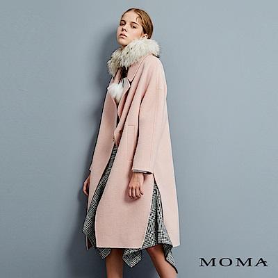 MOMA Double Face側開岔單釦大衣_2色