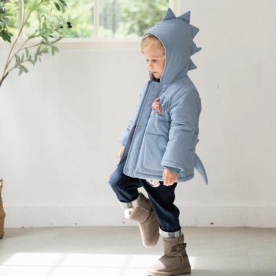 PIPPY 小恐龍造型鋪綿外套 藍