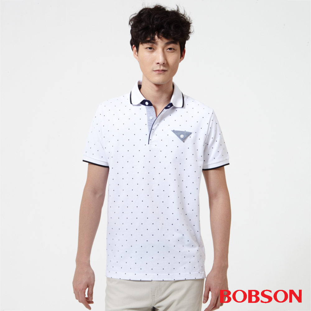 BOBSON 男款印花POLO衫