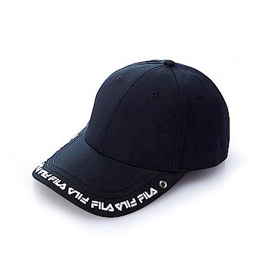 FILA 時尚 LOGO 帽-黑 HTS-5100-BK