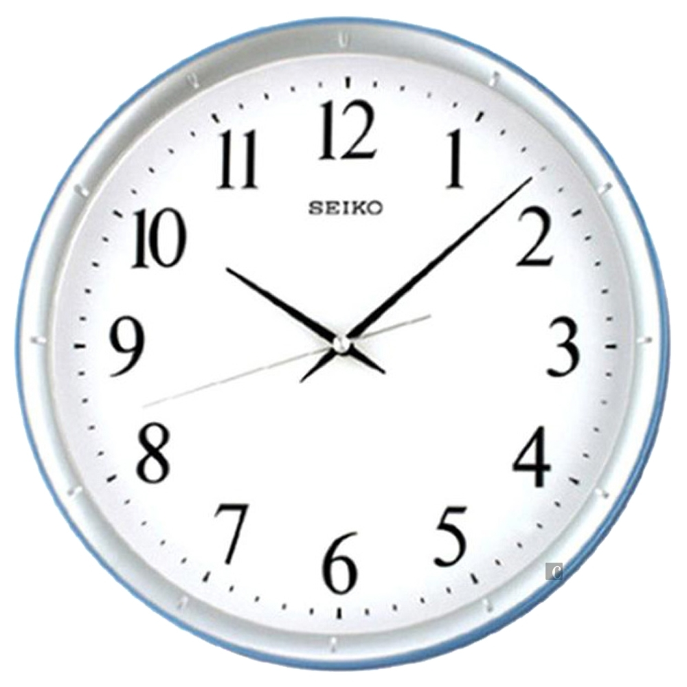 SEIKO 精工 指針式時尚掛鐘(QXA378L)-銀框