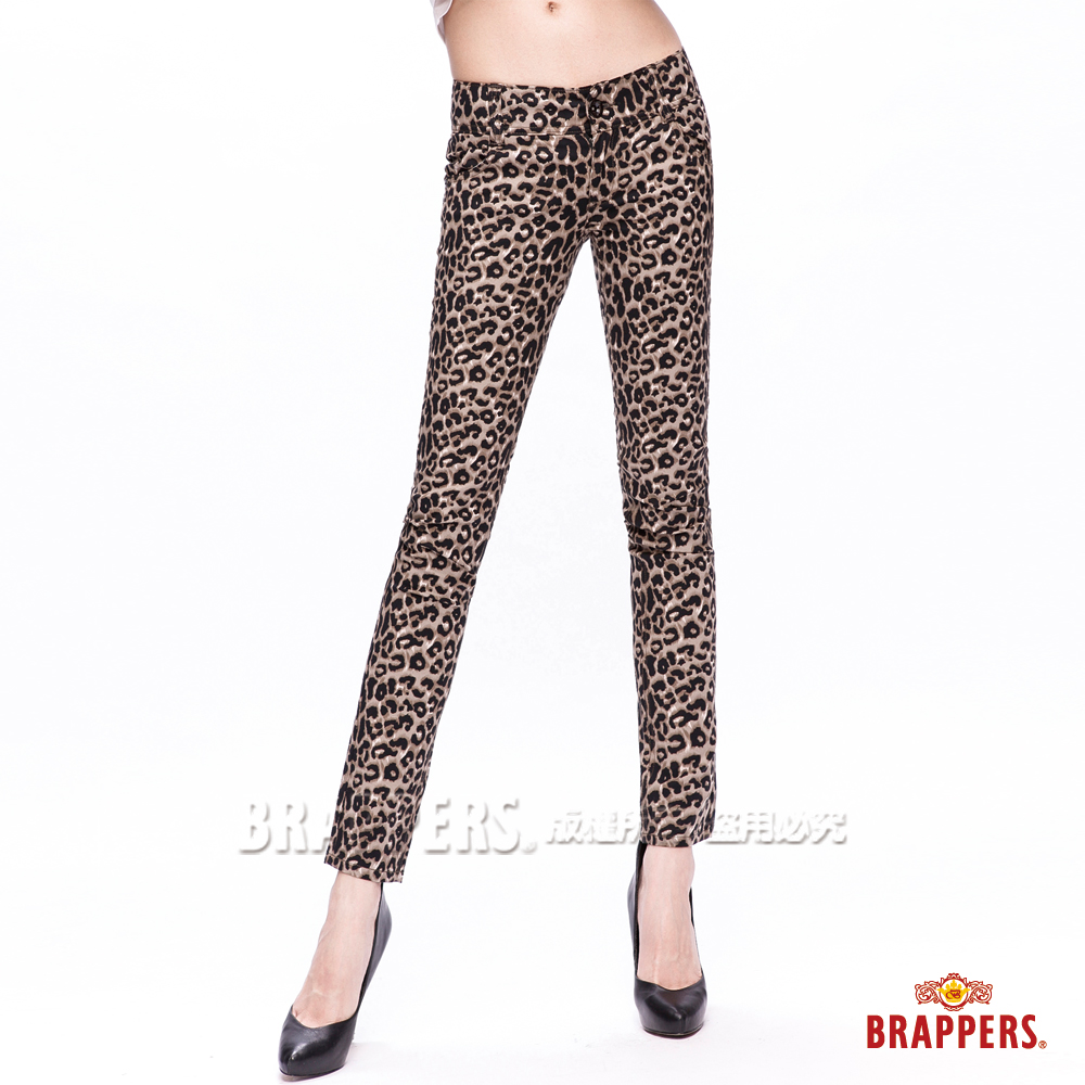 BRAPPERS 女款 新美腳Royal系列-女用彈性九分褲-豹紋