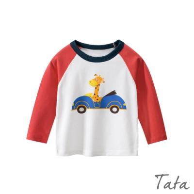 童裝 可愛動物開車印花上衣 TATA KIDS