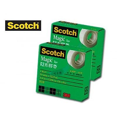 3M Scotch 810隱形膠帶/19mm*32.9M (12入)