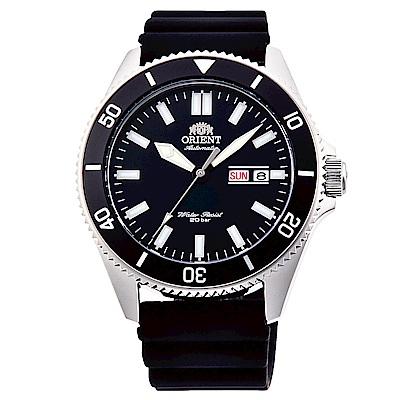 ORIENT東方200m潛水機械錶手錶RA-AA0010B-黑X銀框/44mm