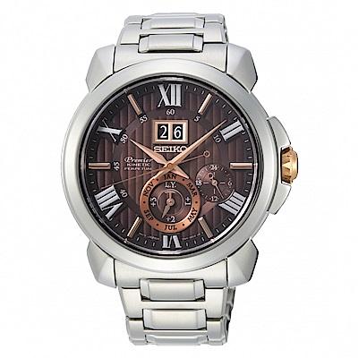 SEIKO Premier廣告款人動電能萬年曆腕錶/7D56-0AE0R/SNP157J1