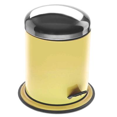 《VERSA》腳踏式垃圾桶(黃5L)