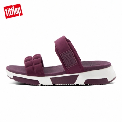 FitFlop HAYLIE QUILTED CUBE SLIDES運動風雙帶涼鞋-女(紫紅色)