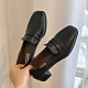 KEITH-WILL時尚鞋館 英倫格調增高百搭粗跟皮鞋-黑 product thumbnail 1