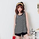 【AngelLuna日本泳裝】黑色條紋無鋼圈四件組比基尼泳衣(附泳帽)