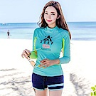 AH dream夢想女孩 二件式 女款 韓風長袖潛水衣衝浪衣泳裝C923
