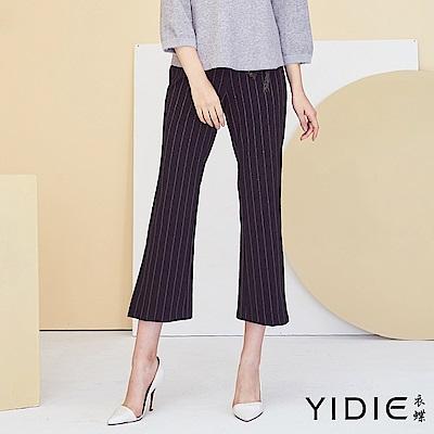 【YIDIE衣蝶】時尚流蘇腰帶修身喇叭褲
