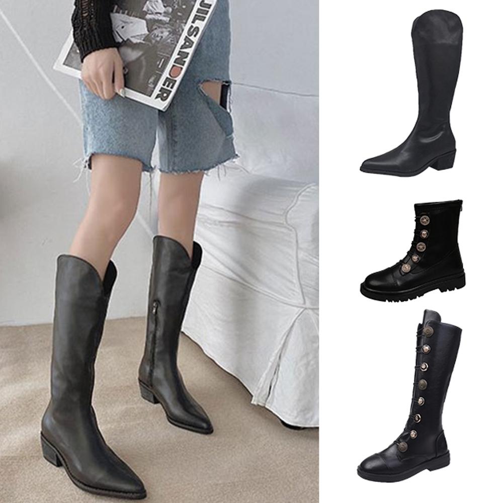 韓國KW美鞋館-獨家優惠-經典英倫假期中筒靴(共6款可選)