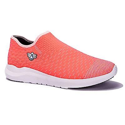 V-TEX 時尚針織耐水鞋/防水鞋 地表最強耐水透濕鞋-桃艷粉(女)