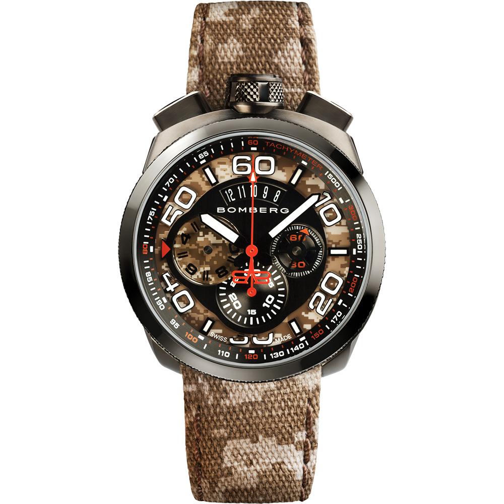 BOMBERG 炸彈錶 BOLT-68 石英計時碼錶-迷彩/45mm