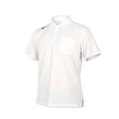 MIZUNO 男 短袖POLO衫 白黑