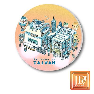 JB Design陶瓷吸水杯墊696_粉台灣文字
