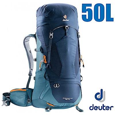 德國Deuter Aircontact 50 10L專業輕量透氣背包海軍藍藍