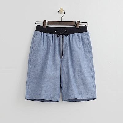Hang Ten - 男裝 - 舒適休閒百慕達短褲-藍色