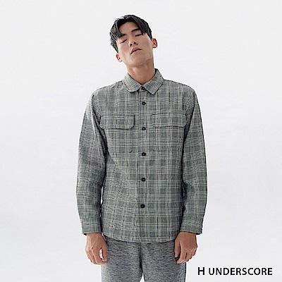 H UNDERSCORE 全新潮牌 男裝 - 格紋雙口袋襯衫夾克 - 灰色