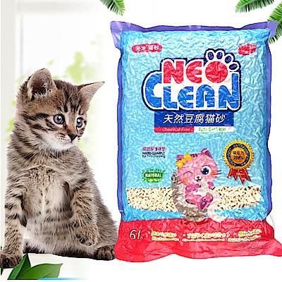 Neo Clean》天净植物性豆腐貓砂|豆腐砂6L*6包(真正用量一個月)免運