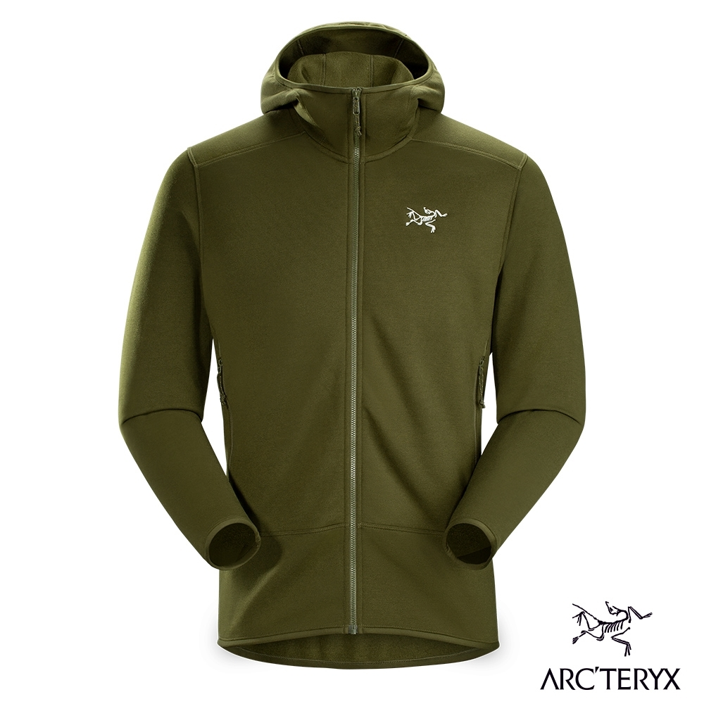 Arcteryx 始祖鳥 男 Kyanite 連帽刷毛外套 叢林綠
