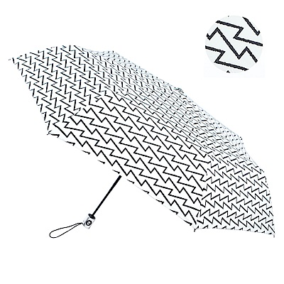 2mm 100%遮光 雅致品味黑膠降溫自動開收傘 (黑白稜線)