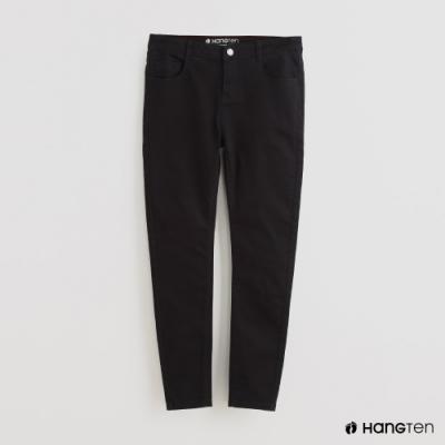 Hang Ten - 女裝 - 深染水洗修身牛仔長褲 - 黑