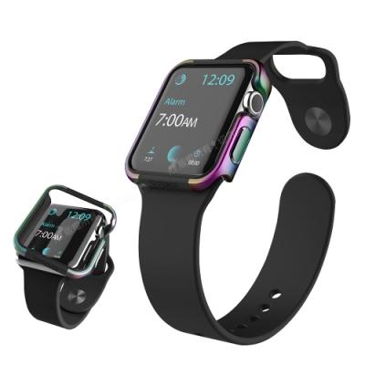 刀鋒Edge系列 Apple Watch Series SE/6/5/4 (44mm) 鋁合金雙料保護殼 保護邊框(霓光銀河)