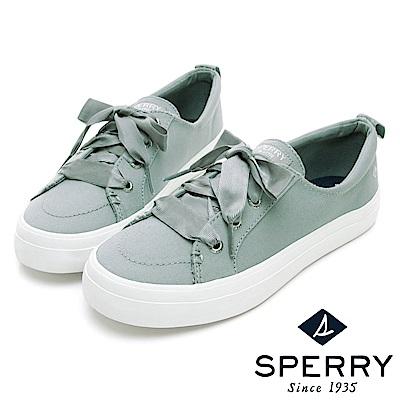 SPERRY 經典粉彩系緞帶帆布鞋(女)-薄荷綠