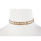 DIOR 新款「J'ADIOR」鍍金復古金屬鎖骨項鍊 (金色)