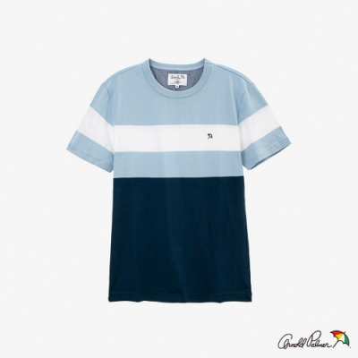 Arnold Palmer-男裝-色塊拼接小傘基本T恤-藍