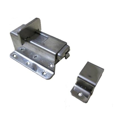 LA-22 高腳門閂鎖 不鏽鋼白鐵製推拉門指示鎖 門栓 浴廁鎖 平閂 平栓