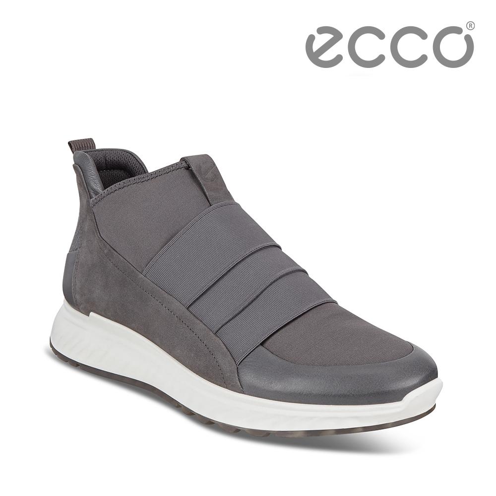 ECCO ST.1 M 潮流襪套運動休閒鞋 男鞋 深灰色