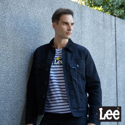 Lee 牛仔外套 101+復刻版絨毛內裡 男 黑