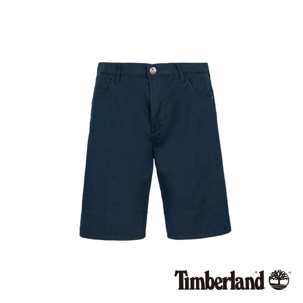 Timberland 男款深藍寶石色彈力反折短褲 A1WK4