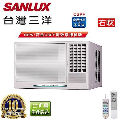 台灣三洋SANLUX 6-8坪窗型定頻右吹式SA-R41FE