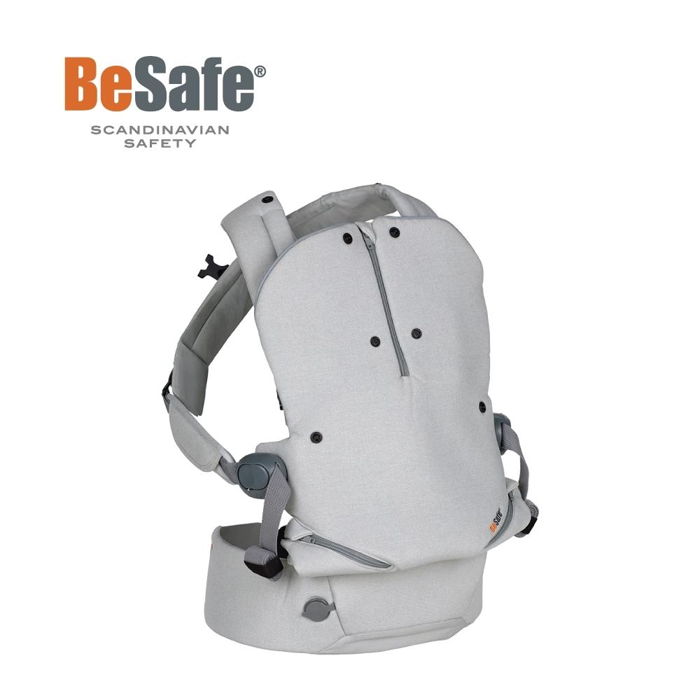 BeSafe Haven輕量秒充氣墊腰凳式嬰幼兒揹帶- Leaf薄霧灰