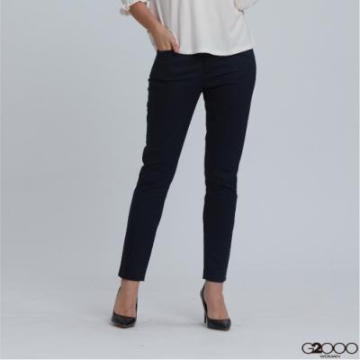 G2000素面休閒褲-深藍色