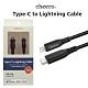 日本cheero Type-C to Lightning 蘋果PD快充線 100公分 product thumbnail 1