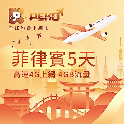 【PEKO】菲律賓上網卡 菲律賓網卡 菲律賓SIM卡 5日高速4G上網 4GB流量 優良品質