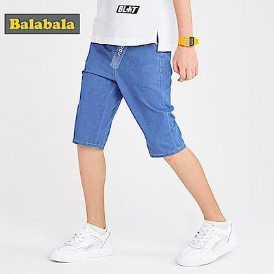 Balabala巴拉巴拉-輕薄休閒寬鬆牛仔短褲-男(1色)
